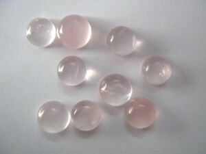 AAA-Quality-25-Piece-Rose-Quartz-14x14-mm-Round-Cabochon-Gemstone-Calibrate