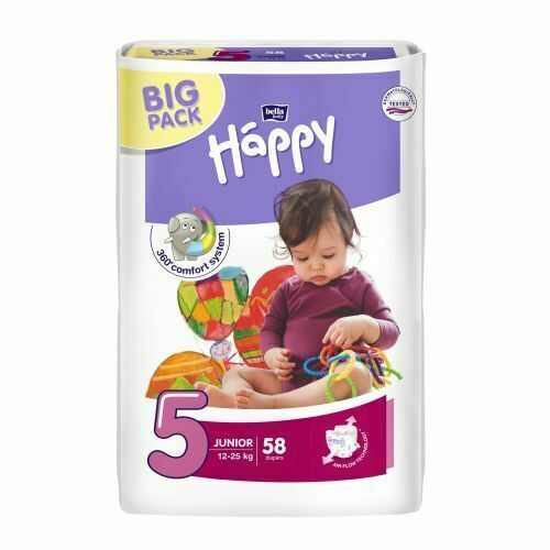 5 Bella Happy Babywindel Junior 12-25 kg BIGPACK Gr 58 Stück