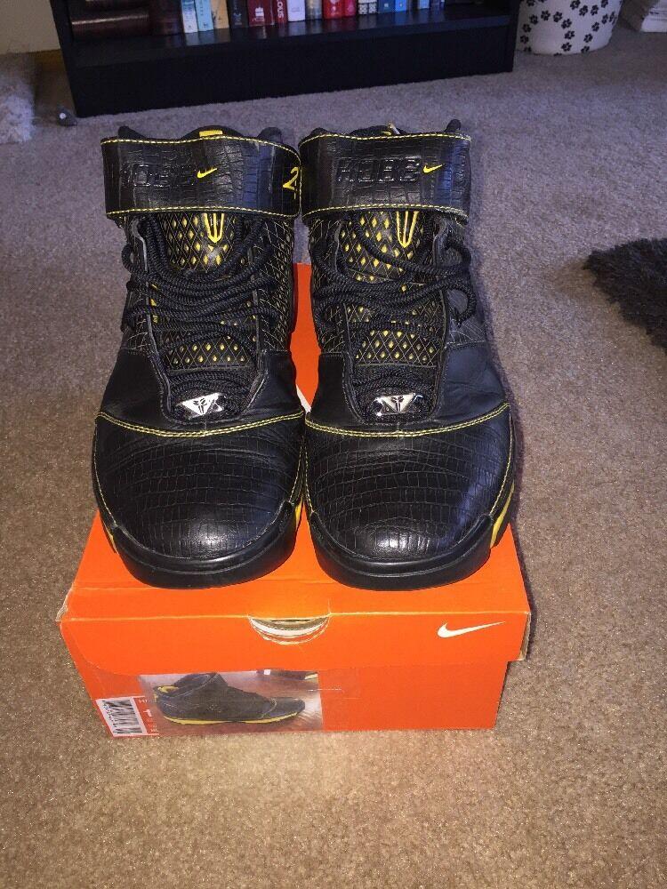 Nike Zoom Kobe 2 II Sz 12 OG Black Varsity Maize Yellow White Lakers
