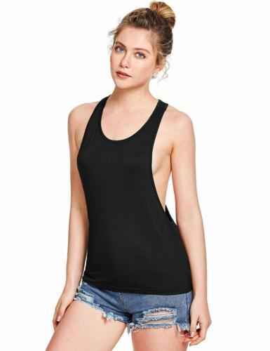 SweatyRocks Women/'s Sleeveless Flowy Loose Fit Racerback Yoga Workout Tank Top