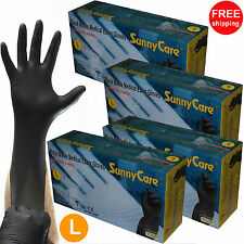 400pcs 5mil Black Nitrile Exam Gloves Powder-Free (Latex Vinyl Free) Size: Large