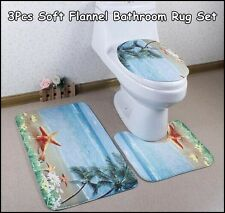 3Pcs/set Vogue Soft Flannel Bathroom Rug Set Contour Rug Mat