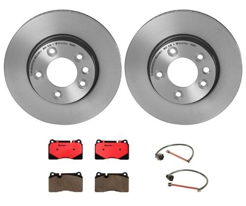 Brembo Front Brake Kit Ceramic Pads Sensors Disc Rotors for VW Touareg /'06-/'13