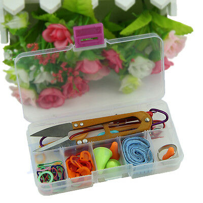 SELL Knitting knit craft Accessories Supply Set Basic Tools Kits with Case HOT