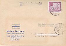WILKAU-HAßLAU, Briefumschlag 1980, Heinz Lorenz Barkas B 1.000 Vertragswerkstatt