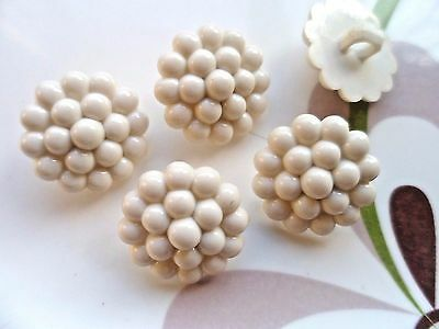 45pcs Buttons Domed Dots Sewing Lady Shirt Cream 20mm Free Shipping