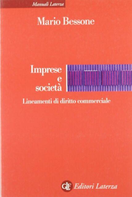 Mario BESSONE Imprese e società. Lineamenti di diritto commerciale (1° ed 2001)