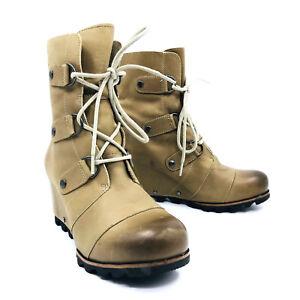 b3eeebf7159 Sorel Joan of Arctic Wedge Dark Fossil Winter Snow Boots Womens 8.5 ...