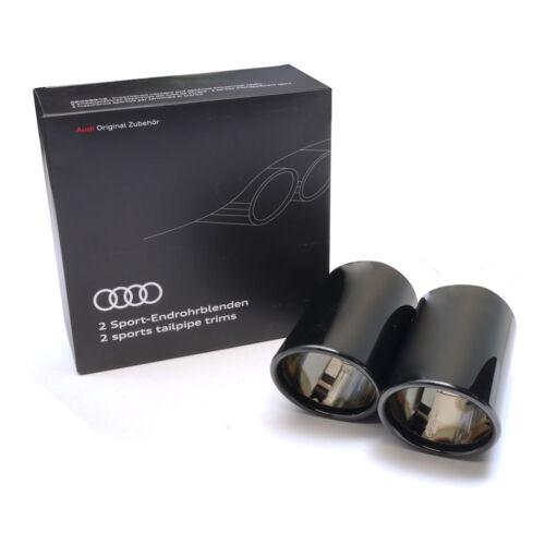 Audi Q2 Sport Endrohrblenden Schwarz Chrom 81A071761A Auspuffblenden Endrohre