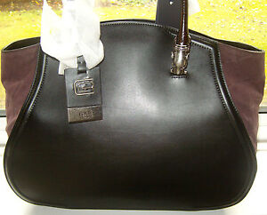 07840f446635 Image is loading ROBERTO-CAVALLI-Daphne-Designer-HandBag-Black-Leather-RRP-