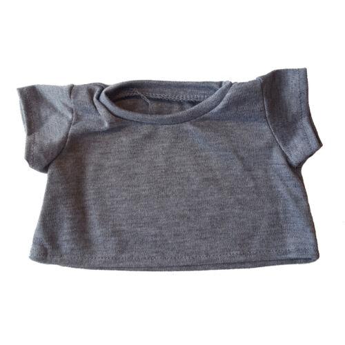 "18/"" Build-a-bear and Make Your Grey Basic Tee Shirt Teddy Bear Clothes Fit 14/"""