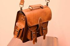 New 1 Side Pouch Brown Leather Motorcycle Side Pouch Saddle Bag Panniers