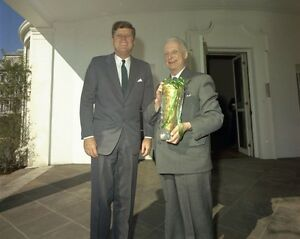 President John F. Kennedy with Ireland Ambassador Thomas Kiernan Photo Print