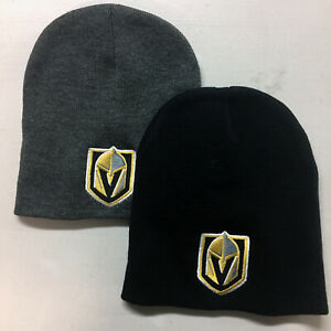ff5d6e51451129 Image is loading Las-Vegas-Golden-Knights-Short-Beanie-Embroidered-Skull-