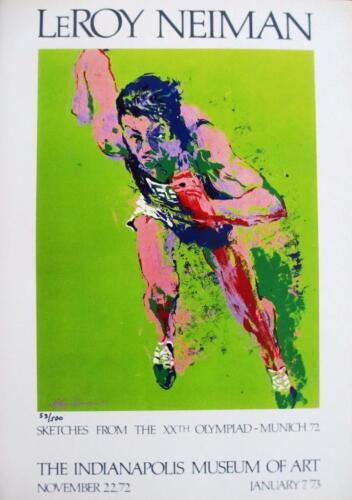 "Leroy Neiman Numbered Bookplate /""Indianapolis Museum of Art/"" 72/' Olympics Munich"