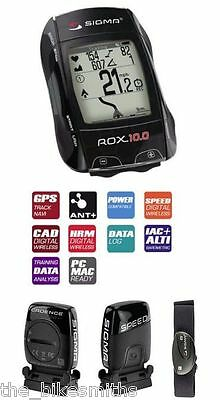 Sigma ROX 10.0 GPS SET HRM Heart Rate ANT+ Speed Cadence Data Bike Computer Kit