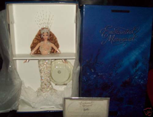 Raro Htf Enchanted Sirena Barbie En Caja
