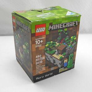 Lego-Minecraft-21102-Micro-World-Original-Box-Missing-Pieces-No-Instructions
