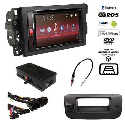 Pioneer Double DIN Bluetooth USB Stereo+Backup Camera+Chevy Truck Radio  Dash Kit   eBay