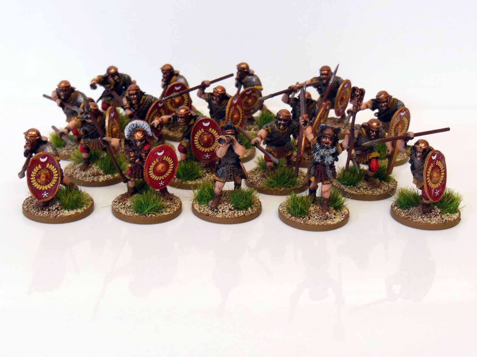 28mm Early Imperial Roman Auxiliaries - Painted & Based