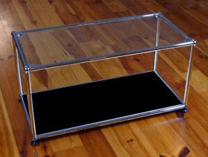 Usm Haller Tv Glasregal Beistelltisch Schwarz Glastablar Glas