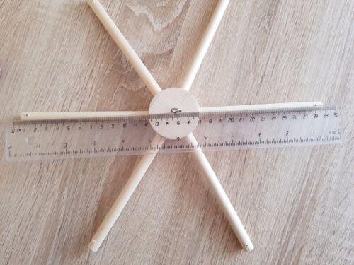 Wooden mobile hanger diy holder mobile 6 arms