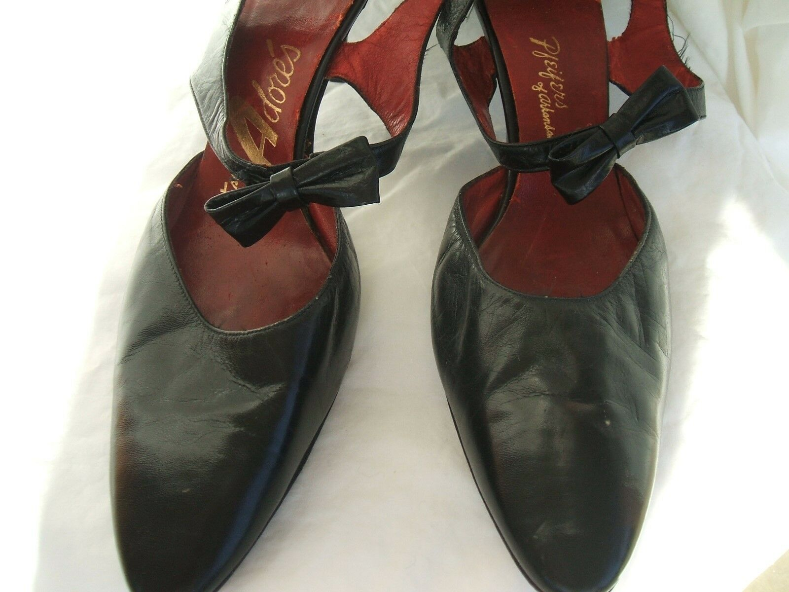 1950's Adore's Pointy Toe Kitten Heel Slingback Pump shoes  Size 9 Narrow