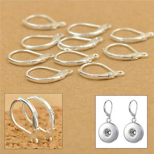 100X-Jewelry-Making-Findings-Hook-Earrings-Leverback-Earwire-Handmade-Components