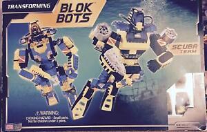 Transforming Bloque Bots Plongée Équipe - 430 Pièces Nouveau