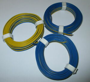0-53-M-Triple-Braid-Wire-3x5m-Marklin-Blue-Yellow-Blue-New