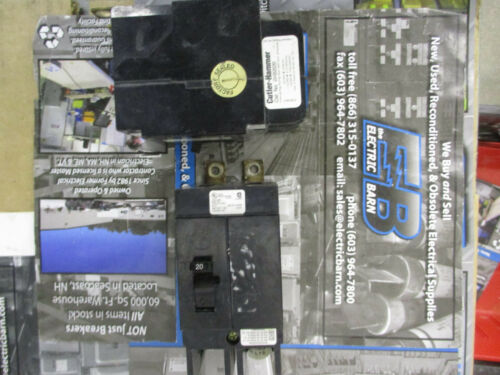 20 AMP 2 POLE 480 VOLT Circuit Breaker Cutler Hammer GHB2020 WARRANTY