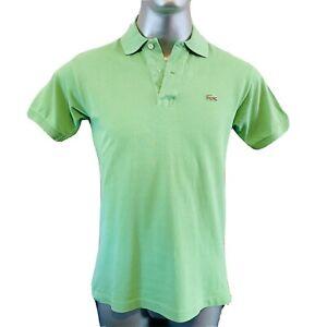 Lacoste-Chemise-Devanlay-Polo-T-Shirt-Mens-Size-4-M-Medium-Green-Cotton-Top