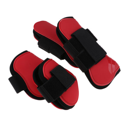 4pcs//set Horse Tendon Fetlock Boots Jumping Horse Front Hind Leg Protection Red