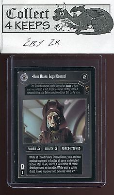 Legal Counsel NrMint-MINT SWCCG Star Wars CCG Theed Palace Rune Haako