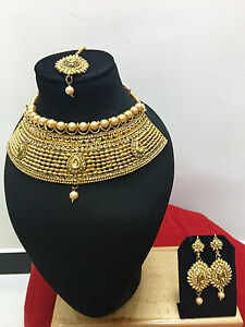 Indian-Bollywood-Style-Gold-Plated-Wedding-Fashion-Bridal-Jewelry-Necklace-Set