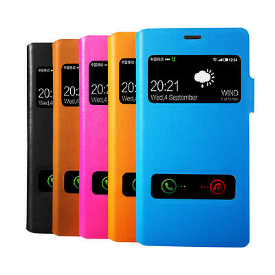 Genuine Real Leather View Window Side Flip Case Cover For Sony Xperia Z3 D6603
