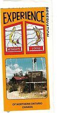 Kesagami Lodge Northern Ontario Canada 1986 Vintage Brochure