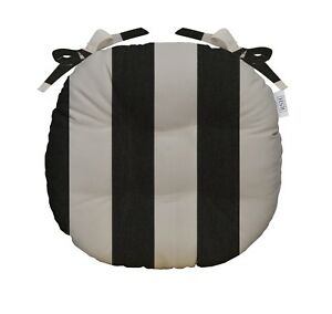 Rsh Decor Round Tufted Bistro Chair Cushion W Ties Sunbrella