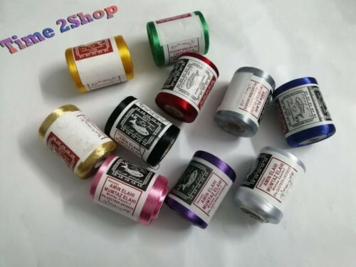 10 Strong Silk Embroidery Machine Thread Strong Spools 10 Basic colours UK