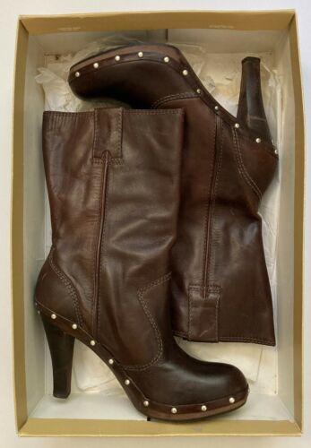 Michael Kors Clog Boot Brown Size 7.5 Cute