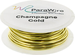 Copper Wire Silver Plated Parawire 20ga Gold 40/' Roll