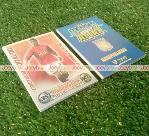 Complétez votre 08//09 match attax extra collection toutes les cartes jeux complets 2008 2009