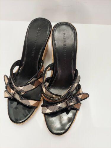 Burberry Espadrilles Wedge Strappy Sandal Shoes EU