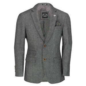 Men/'s Suit Jacket Green Blazer Herringbone Single Breasted Business Tailored Fit