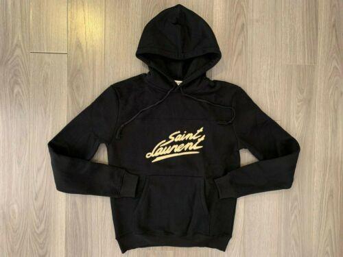Saint Laurent Black 50's Signature Hoodie black sz