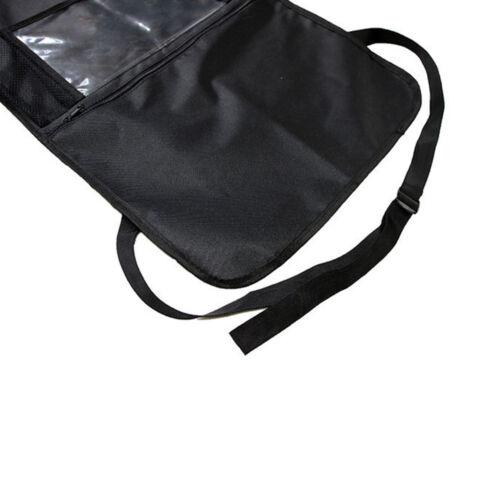 Car Back Seat Cover Organizer Waterproof Kick Mat Back Storage Protector Black
