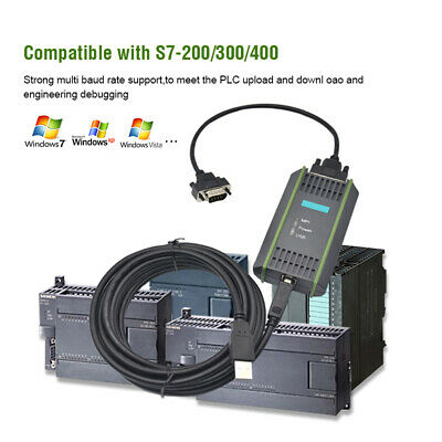 USB MPI Programmierkabel Kabel für Siemens S7-200//300//400 PLC Adapter Kit DE