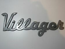 Vintage Villager Coach Travel Trailer Emblem Nameplate Ornament RV Airstream Air