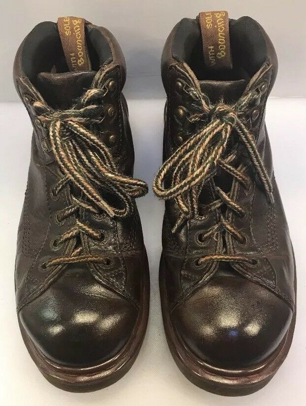 Dr Martens Men 7 US Doc 8287 Boots Air Wair Brown Leather England Made