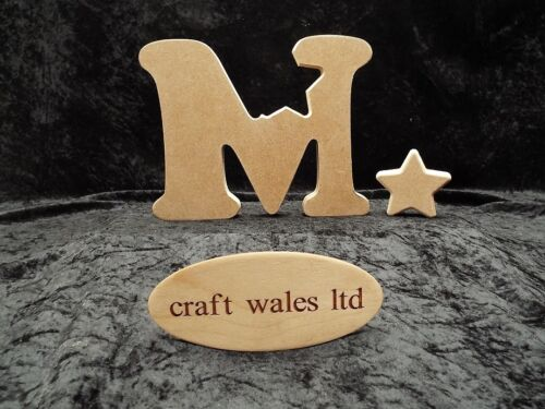 MDF Alphabet Letters with Heart Wooden freestanding Letter Bundle 20 for £64